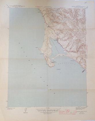1945 7.5 minute sheet Bodega Head and Bay