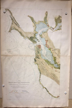 1908 EQIC San Francisco Bay Area map with Hand Color