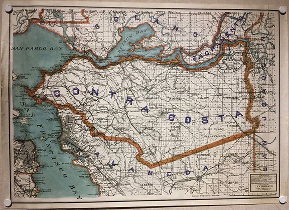 1914 Contra Costa County by CF Weber w/ hand color