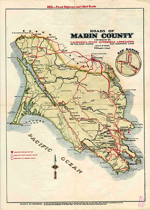 1923 Marin County by the CSAA -colored