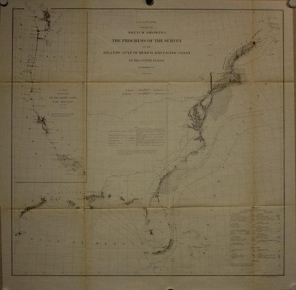 USCS Survey of the United States, 1862