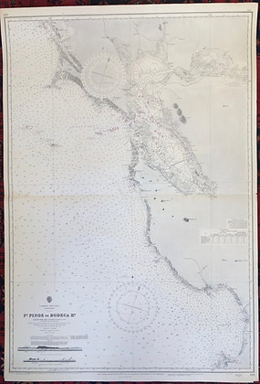 1965 Pt Pinos to Bodega Head chart with entrance to and including SF Bay