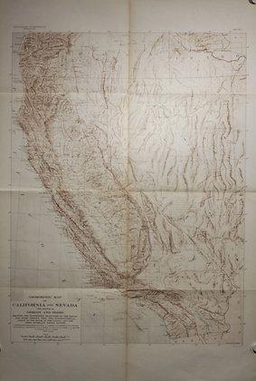 Geomorphic California, 1908