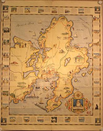 Cape Ann Trail Map, 1930