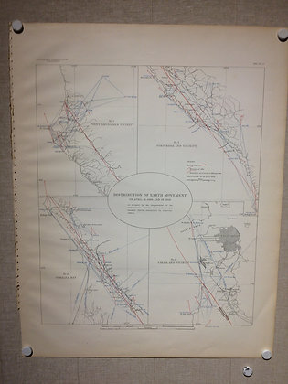 1908 4 panel map Distribution of Earth Movement April 18th 1906