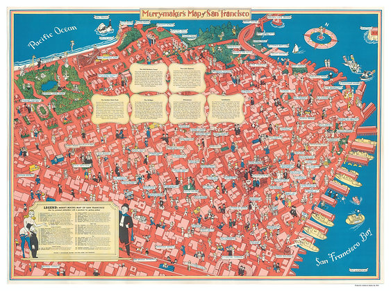 San Francisco Merry Makers Map (offset lithograph)