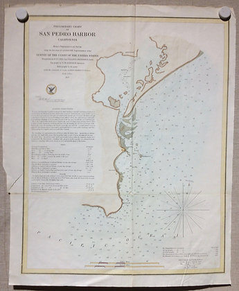 1859 USCS Preliminary Chart of San Pedro Harbor