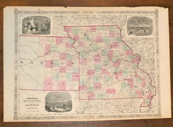 Missouri and Kansas, 1863