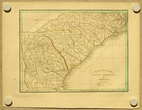 North Carolina, South Carolina, Georgia, 1835