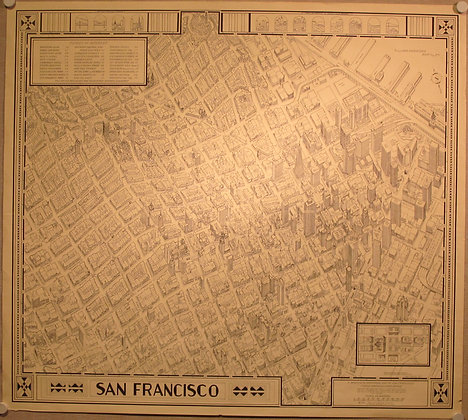 Pictorial Map of San Francisco, 1976