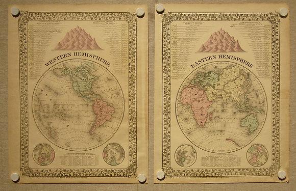 Western & Eastern Hemispheres, 1876
