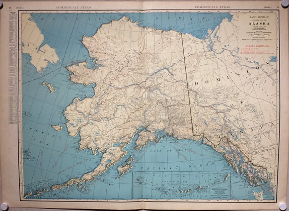 1924 Alaska by Rand McNally