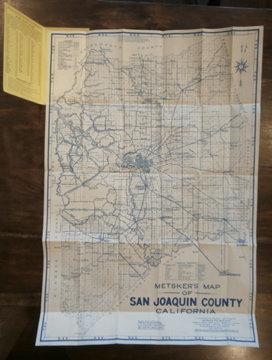 Metsker's Map of San Joaquin County