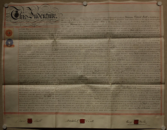Indenture Contract, 1896