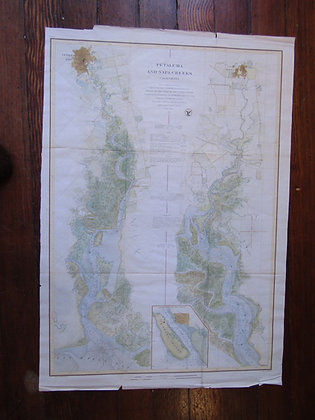 1861 USCS Napa & Petaluma Creeks Sheet
