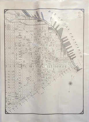 1959 City and County of S F Planning map of 50 Vara Survey