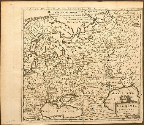 Sarmatia et Scythia - Russilia et Tartaria Europae, 1729