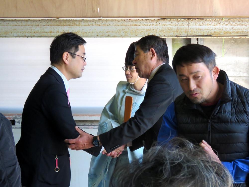 吉福浩介さん 事務所開き