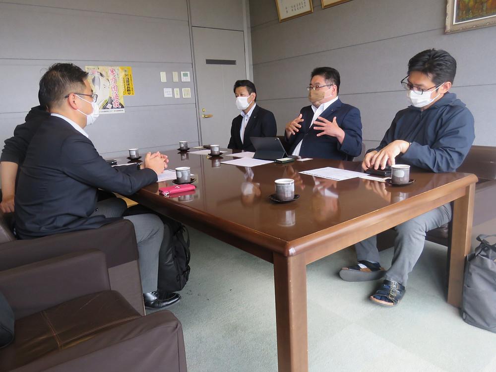 鹿児島県飲食業生活衛生同業組合の皆様と協議