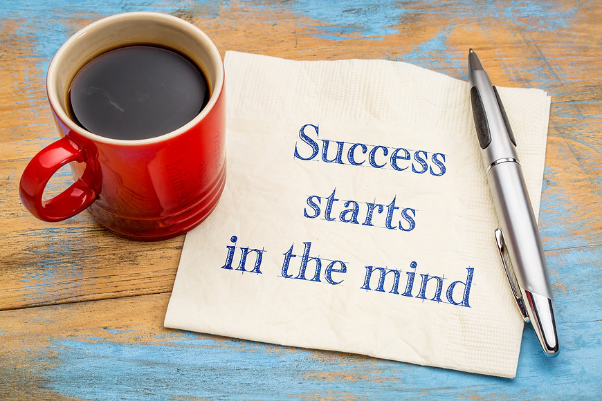 Success starts in the mind - inspiration