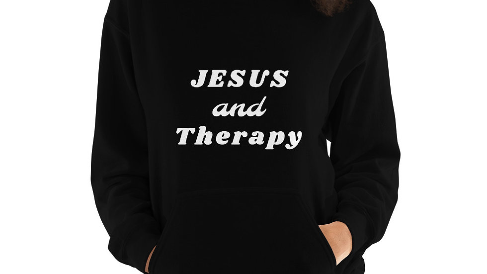 Jesus and Therapy Unisex Hoodie