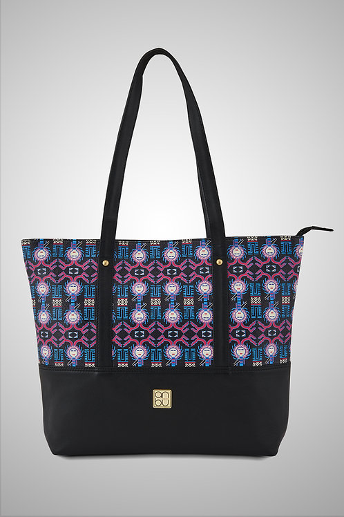 LEATHER TOTE BAG - OF SPATIAL GODS