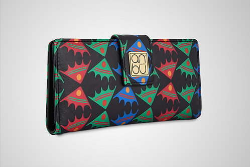 LEATHER WOMEN'S WALLETS - FISH ON A PLATEAU