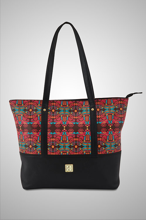 LEATHER TOTE BAG - THE IMMORTAL GLYPH
