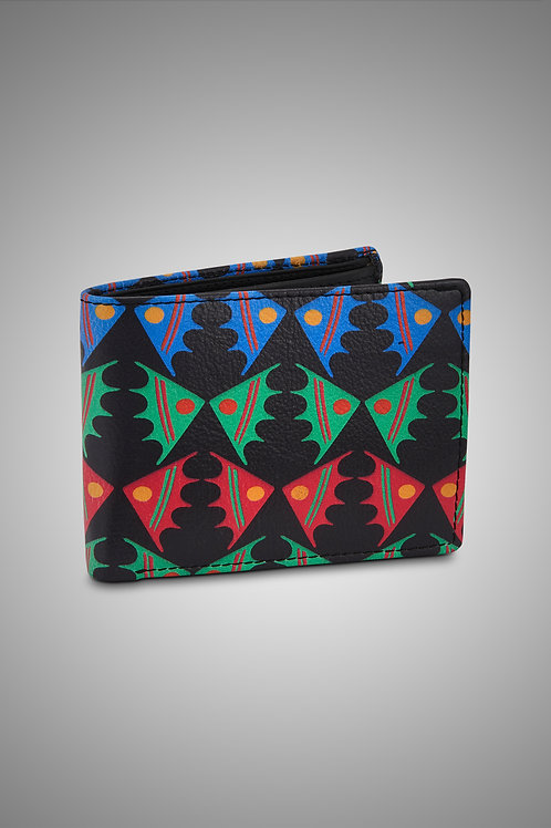 LEATHER MEN'S WALLET - FISH ON A PLATEAU