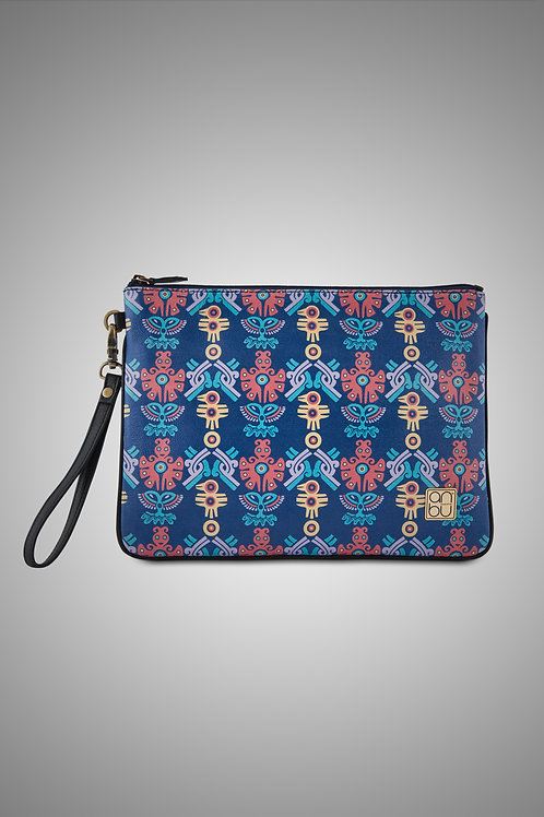 LEATHER WRISTLET ZIP POUCH - THE MOHICAN TRINITY