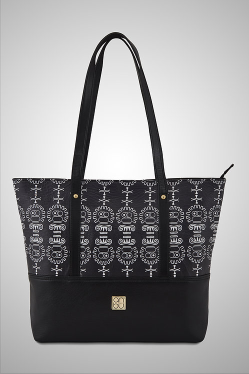 OUR SIGNATURE LEATHER TOTE BAG - THE GREAT UNMASKING