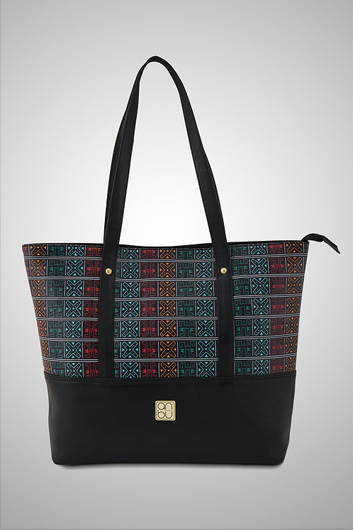 LEATHER TOTE BAG - AN ANCIENT GAME