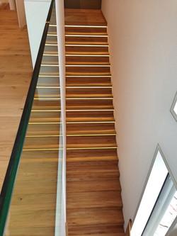 Treppe Faltwerk mit LED Beleuchtung