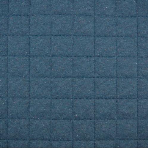 Steppstoff Jersey Konfetti Melange-dunkelblau