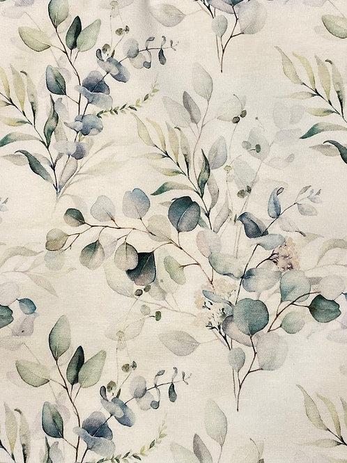 Jersey Eukalyptus auf Cremeweiß