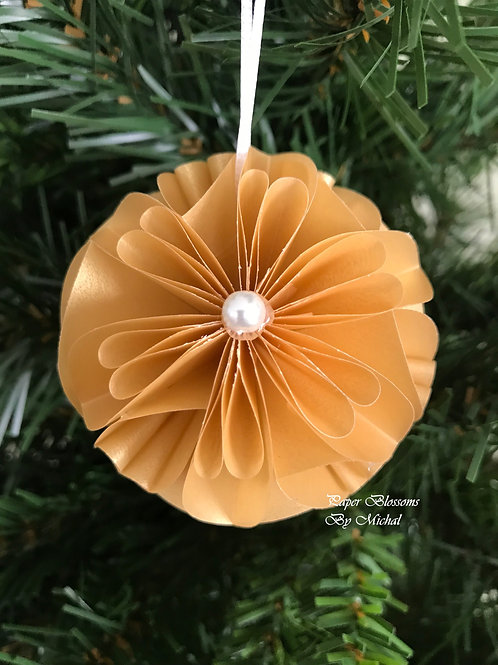 Gold Vellum Ornament
