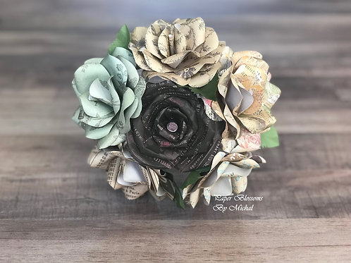 Vintage Paper Mini Bouquet