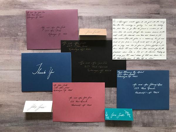 Calligraphy and Custom Invitations