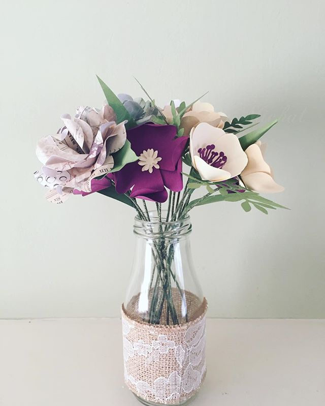 Milk Bottle Vintage Paper Custom Order 😍 #ivory #purple #thehappynow #thatsdarling #rusticdecor #ru