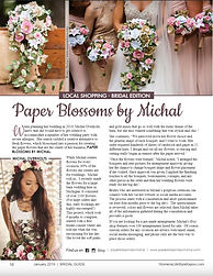 Women's Lifestyle Magazine Bridal Florist