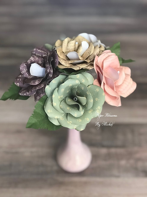 Shabby Chic Paper Flowers