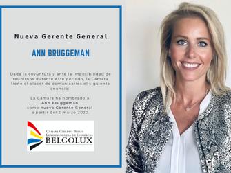 Nueva Gerente General - Ann Bruggeman