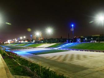Noticias Socios: Schreder - El azul destacará en la iluminación LED de la Segunda etapa de Parque In