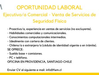 Oportunidad Laboral: FW Management busca Ejecutivo/a Comercial