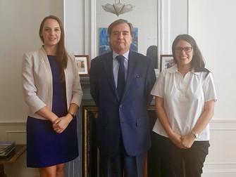 Noticias Belgolux: Gerente Ejecutiva se reúne con Embajador de Chile en Bélgica y representante de P