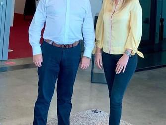 Reunión  con Laurent De Meester, Presidente de la Belgo-Chilean Chamber of Commerce.