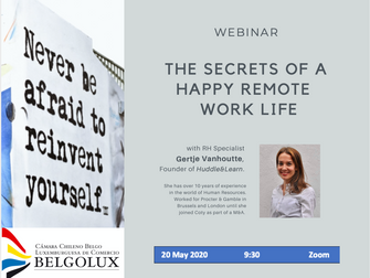 Webinar : The Secrets of a Happy Remote Work Life