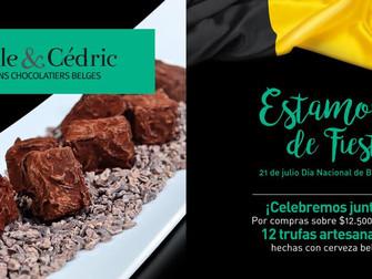 Chocolatería Nicole & CedricNuestro Celebra día Nacional de Bélgica