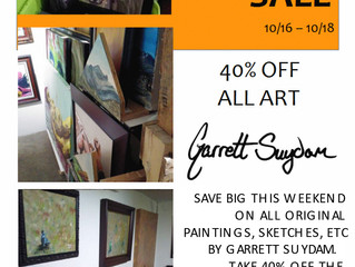 Save 40% this weekend on all art