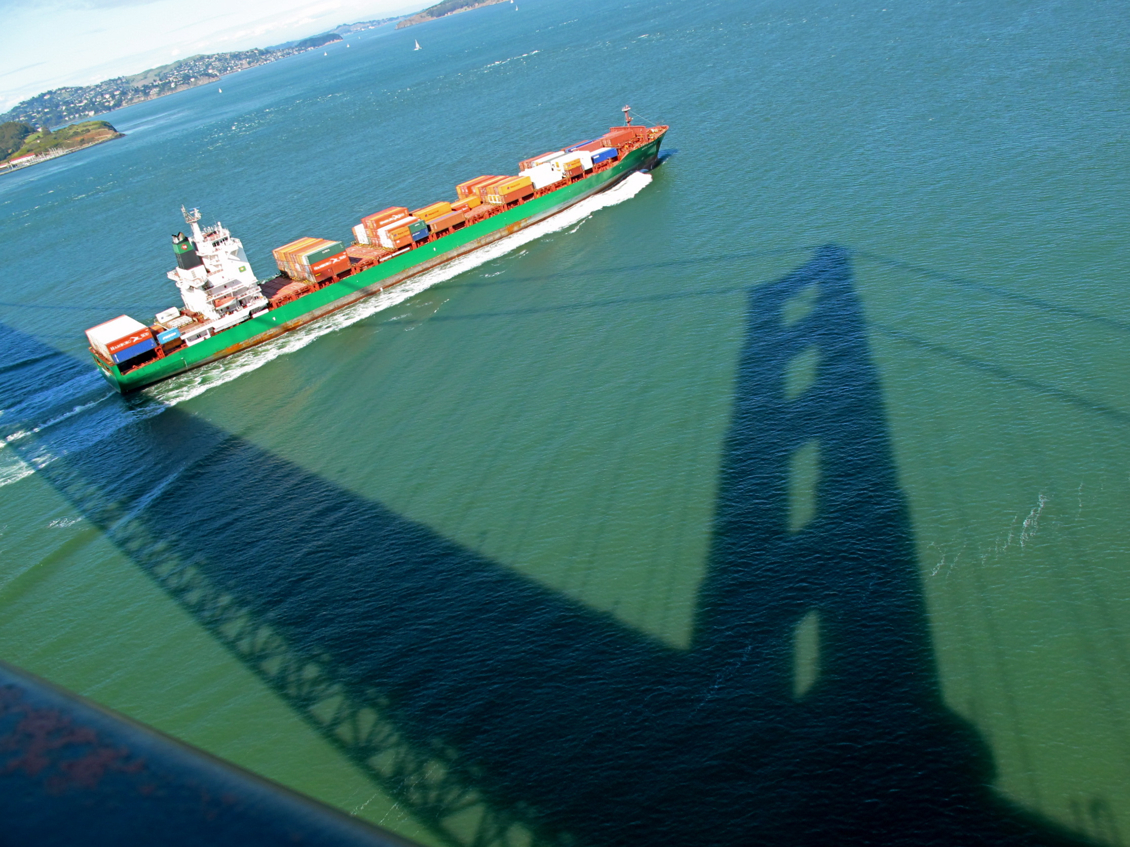 Cargo Ship, Shadow of Golden Gate
